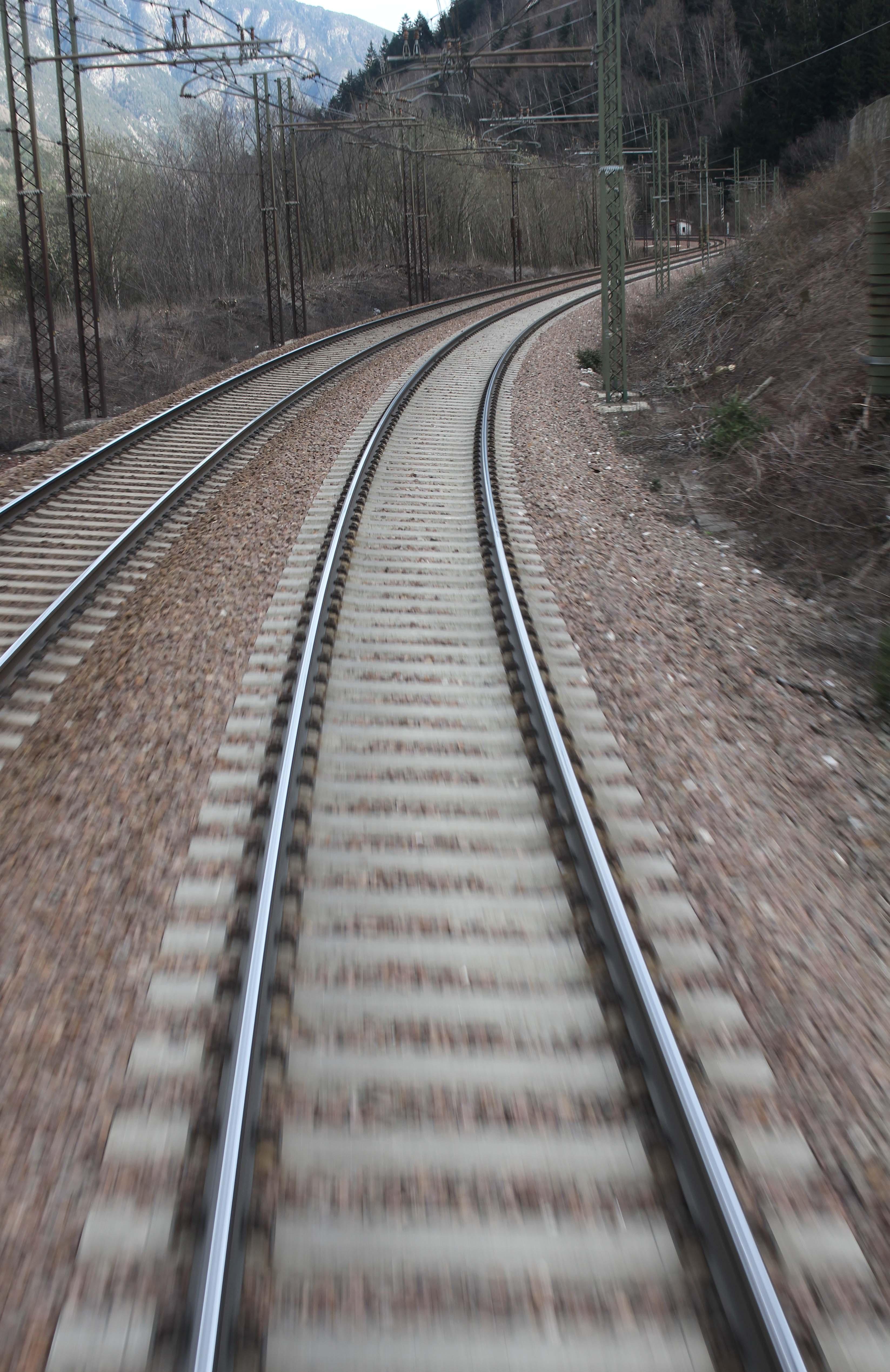 Bahngleise auf der Brennerstrecke